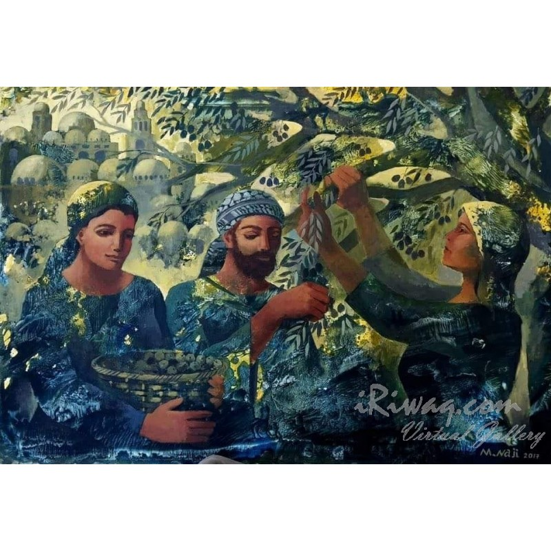 Olive Harvest by Maher Naji, iRiwaq Virtual Art Gallery