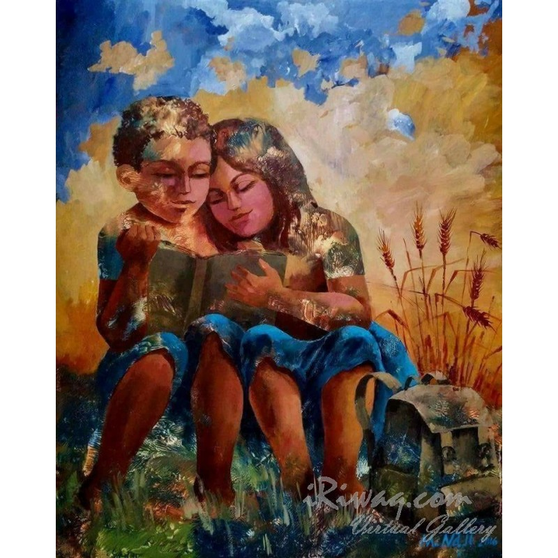 Innocent love by Maher Naji, iRiwaq Virtual Art Gallery
