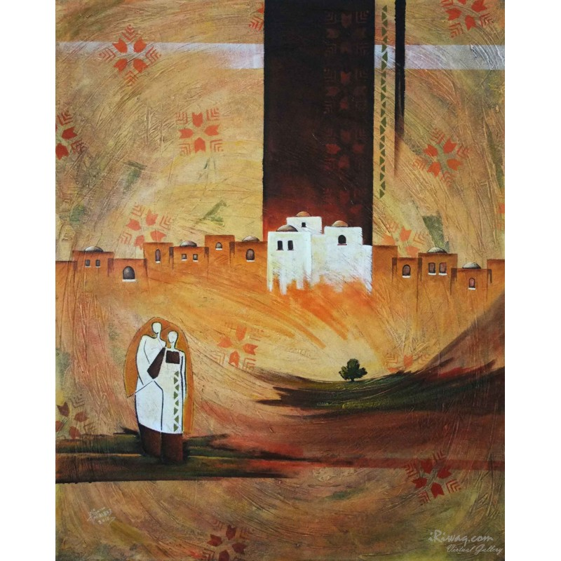 Women from the city by Mohammed Alhaj, iRiwaq Virtual Art Gallery