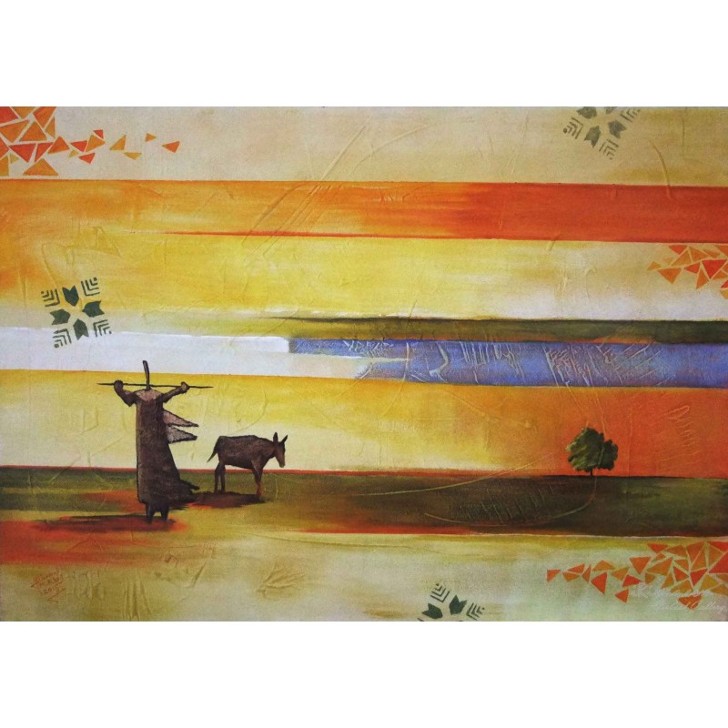 The Shepherd by the city by Mohammed Alhaj, iRiwaq Virtual Art Gallery