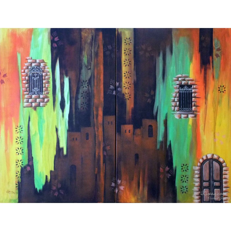Inspired by the city by Mohammed Alhaj, iRiwaq Virtual Art Gallery