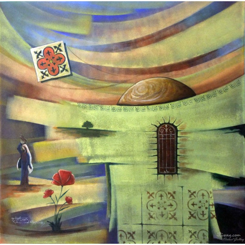 Gaza - flower of affection by Mohammed Alhaj, iRiwaq Virtual Art Gallery