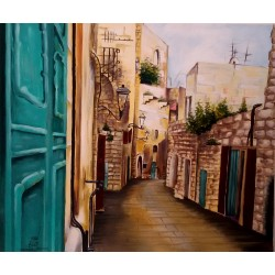 City streets by Amjad Sabra, iRiwaq Virtual Art Gallery