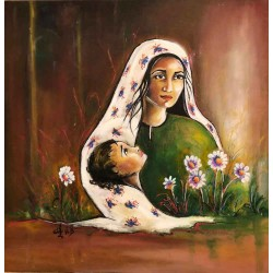 Motherhood by Hanadi Bader, iRiwaq Virtual Art Gallery