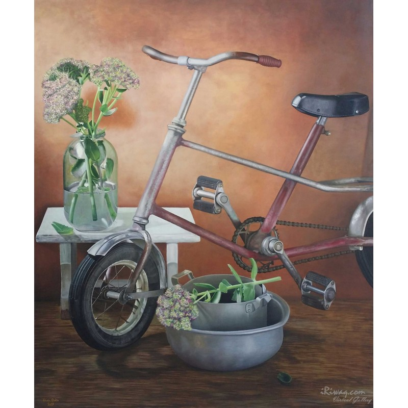 Bicycle by Duaa Qishta, iRiwaq Virtual Art Gallery