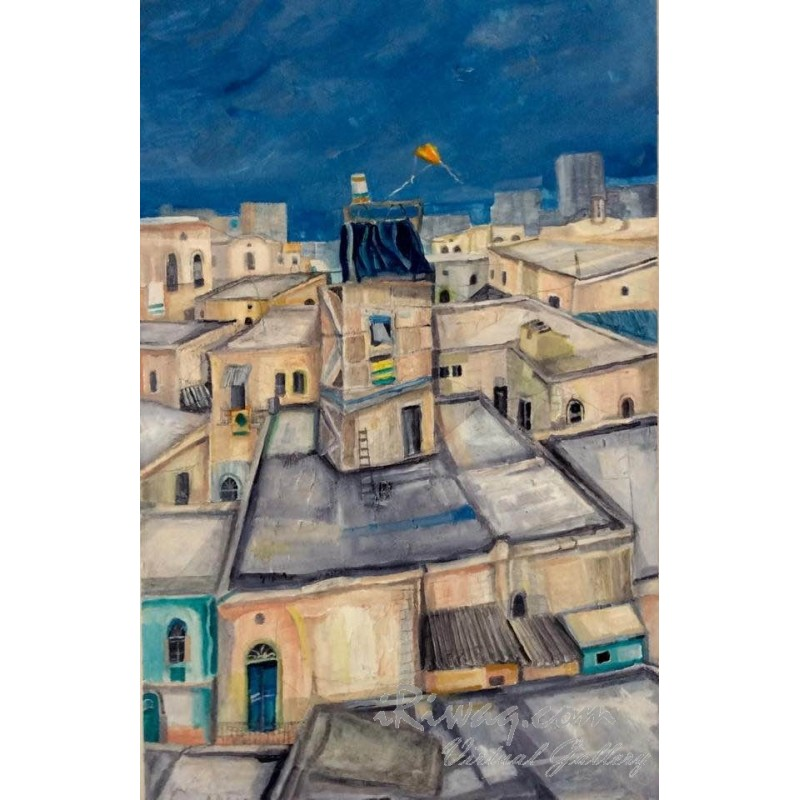 Roofs of houses in Wadi Nisnas by Abed Abdi, iRiwaq Virtual Art Gallery
