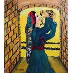 Lady Earth Mother of Beginnings and Endings by Naila Abu Shakra, iRiwaq Virtual Art Gallery