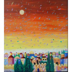 Autumn night in Jerusalem by Taleb Dweik, iRiwaq Virtual Art Gallery
