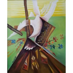 Peace crucifixion by Tahani Skaik, iRiwaq Virtual Art Gallery