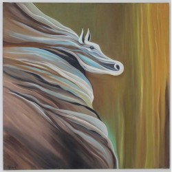 White Horse by Shuruq Egbariah Sbihat, iRiwaq Virtual Art Gallery