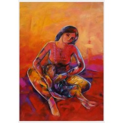 Motherhood by Sameer Elhallaq, iRiwaq Virtual Art Gallery
