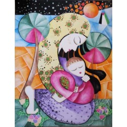 Motherhood by Aza Shaikh Ahmad, iRiwaq Virtual Art Gallery