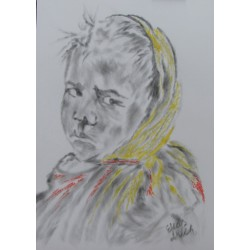 Girl refugee by Elias Akleh, iRiwaq Virtual Art Gallery